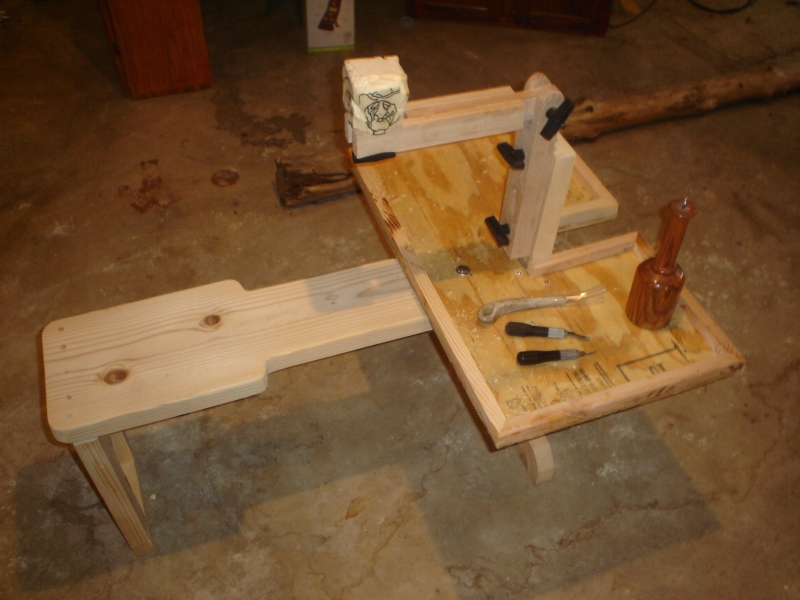 Portable wood carver s bench plans diy how to make