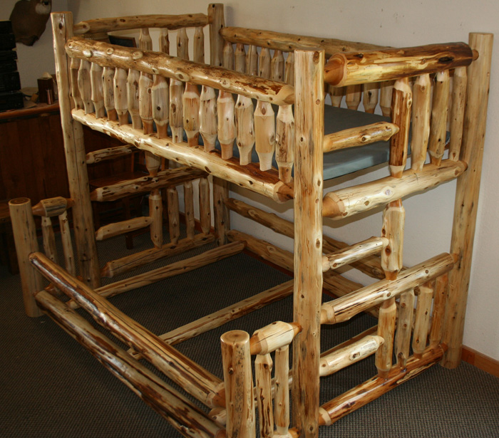 Pdf log bunk beds plans free for Free log bed plans